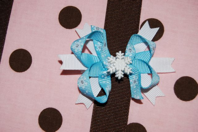 Bitty Double Layer Snowflake Bow - Click Image to Close